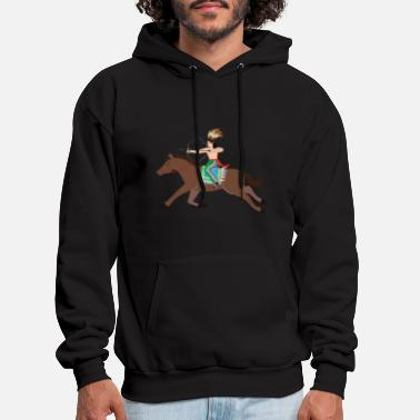 Western Riding Native American Native American Appache Indian cos - Men's Hoodie