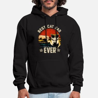 Retro Bast Dad Cat Gift - Men's Hoodie