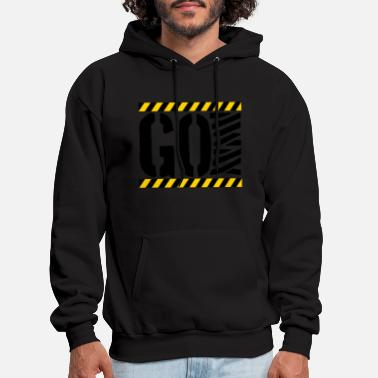 Barrier Tape Go Away Barrier - Men's Hoodie