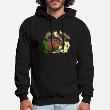 Pattern Baby goats with baground, animal babies, animal - Men's Hoodie