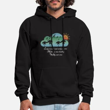 Png Moon sky early to bed and early to rise - Men's Hoodie