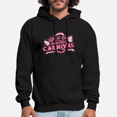 Move Carnival Mardi Gras saying celebration camels - Men's Hoodie