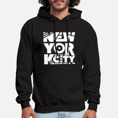 New York City abstract white - Men's Hoodie