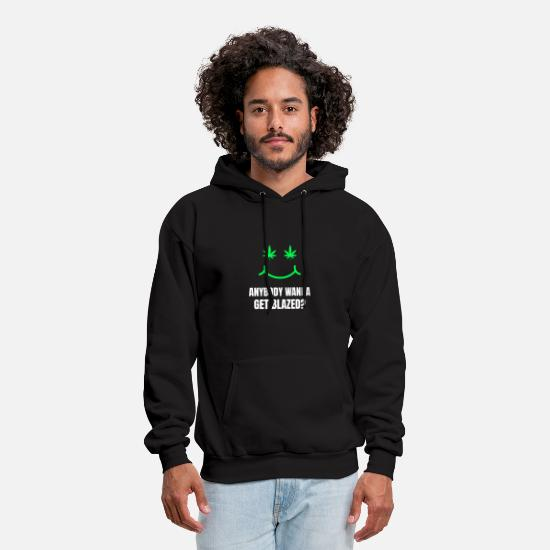 Weed Hoodies & Sweatshirts - Blazed Weed Smoking 420 Stoner Bong - Men's Hoodie black
