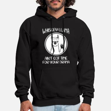 whiskey llama aint got time for your drama black w - Men's Hoodie