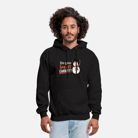 Winter Hoodies & Sweatshirts - Do you smell carrot - Men's Hoodie black