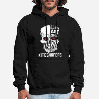 all men are created equal but the best become kite - Men's Hoodie