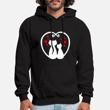 Cute Couple Cat Shirt - Best Valentine Gifts - Men's Hoodie