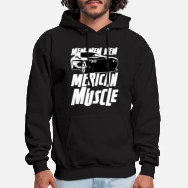 Muscle Car merica muscles - american muscle car - Men's Hoodie