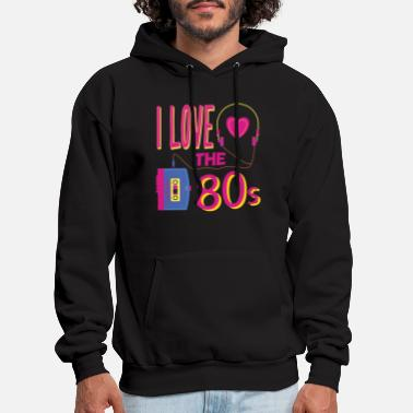 Partymode I love the 80s party disco retro revival past - Men's Hoodie
