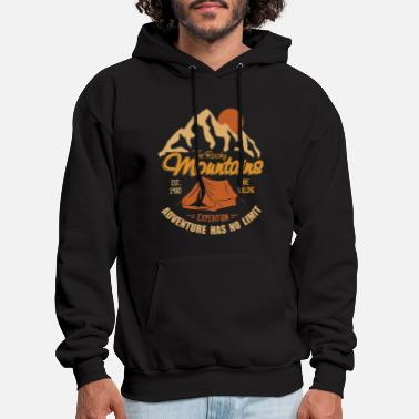 Camping Vintage Retro Rocky Mountains Hiking Camping Gift - Men's Hoodie