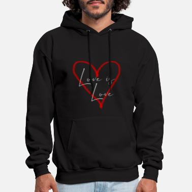 Love Love is love - Men's Hoodie