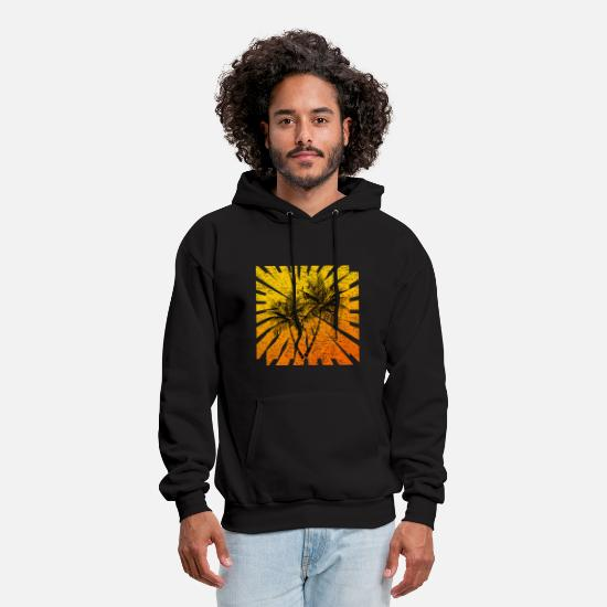 Wanderlust Hoodies & Sweatshirts - Palm Trees - Men's Hoodie black