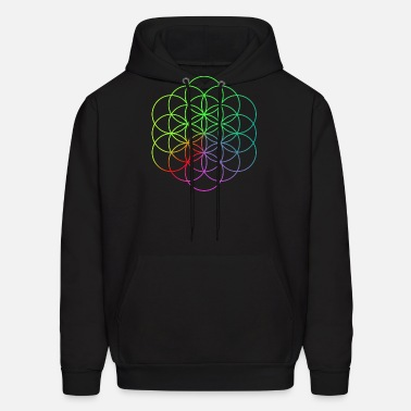 Flower of Life Symbol Custom Design Graphic Hoodie Sweatshirt for Men Women