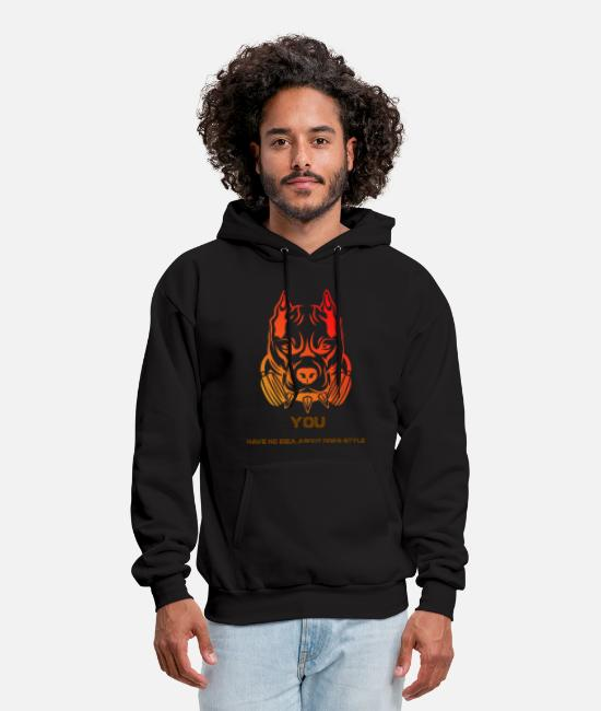 Red Hoodies & Sweatshirts - You Have No Idea About Dog's Style - Men's Hoodie black