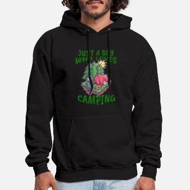 Camping Camping Young man love - Men's Hoodie