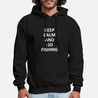 Angling Keep Calm and Go Fishing Hook Rod Gift - Men's Hoodie