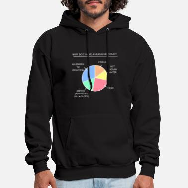 Adult Funny Headache Stress Coffee Tired Gift - Men's Hoodie