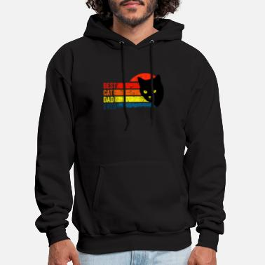 FUNNY Retro Best Cat Dad - Men's Hoodie
