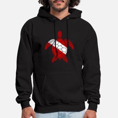 Diver Diver Down Sea Turtle - Men's Hoodie
