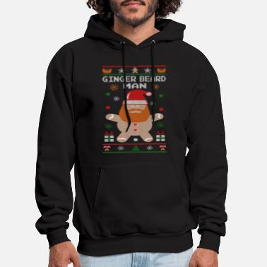 Funny Christmas Ginger Beard Man - Men's Hoodie