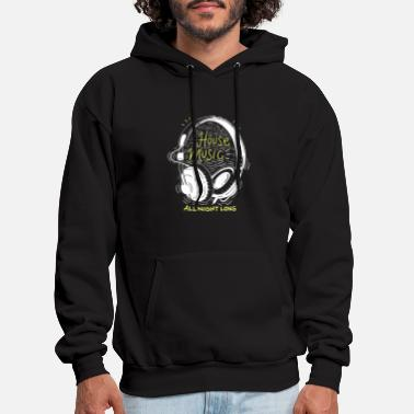 House House Music All Night Long - Men's Hoodie