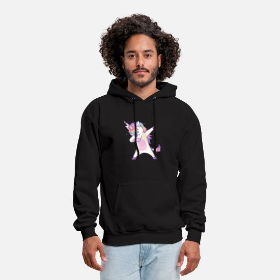 Unicorn Hoodies & Sweatshirts - Dabbing Unicorn Dab Hip Hop Magic Girl Clothes - Men's Hoodie black