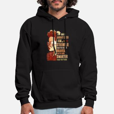 I Am A January Queen Stronger Smarter - Men's Hoodie