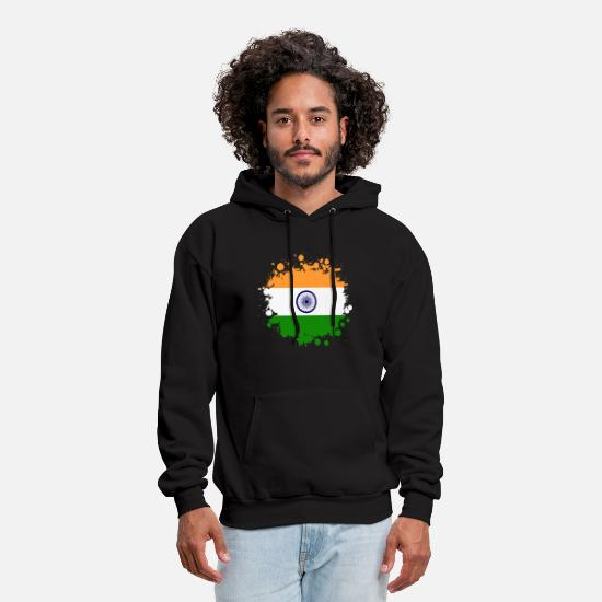 Hindi Hoodies & Sweatshirts - India Blob / Gift New Delhi - Men's Hoodie black