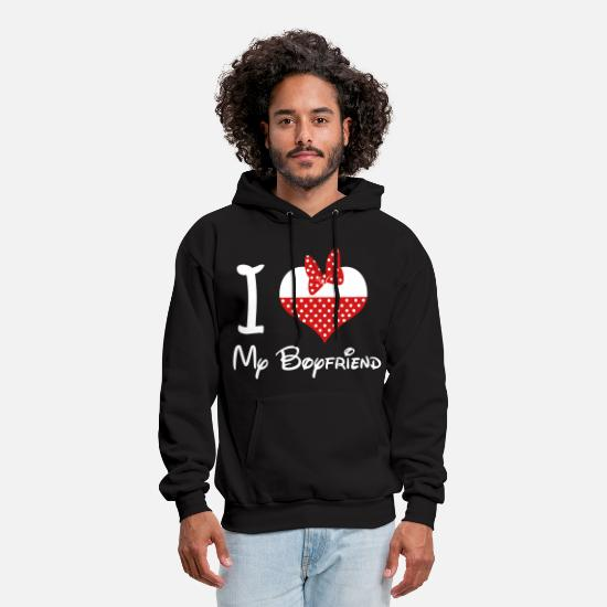 Love Hoodies & Sweatshirts - i_love_my_boyfriend - Men's Hoodie black
