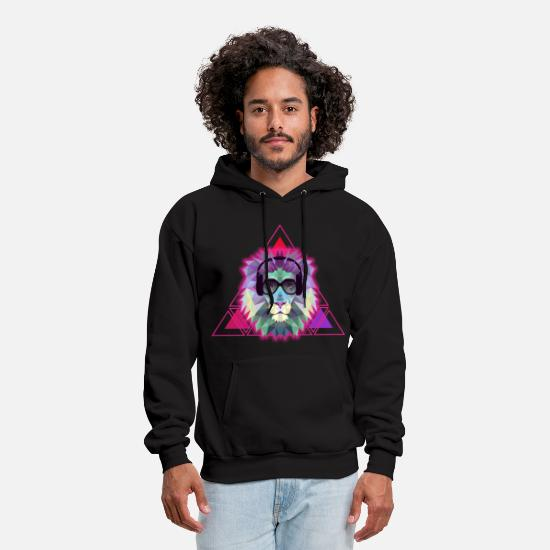 Cool Hoodies & Sweatshirts - Dj Lion - Men's Hoodie black