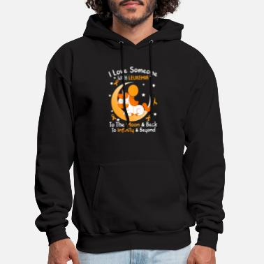 Childhood I Love Someone With Leukemia To The Moon And Back - Men's Hoodie