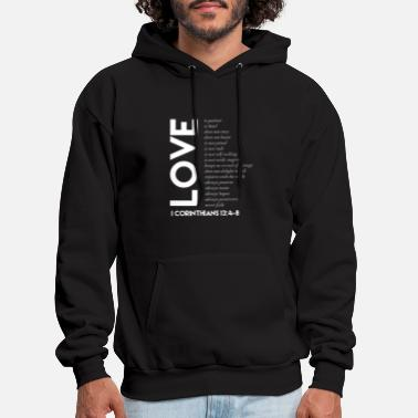 Christian Designs Love Is Christian Design Gifts for Christians - Men's Hoodie