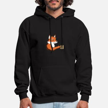 Grumpy In The Morning Fox grumpy morning gift idea coffee funny animal - Men's Hoodie