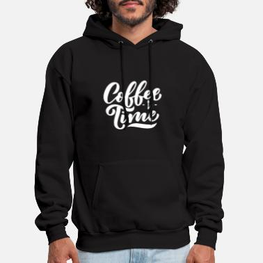 Coffee Time Clock - Men's Hoodie