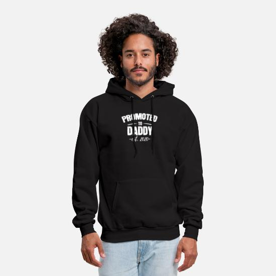 Pregnancy Hoodies & Sweatshirts - Promoted to Dad 2020 - Baby Arrival Gift New Daddy - Men's Hoodie black