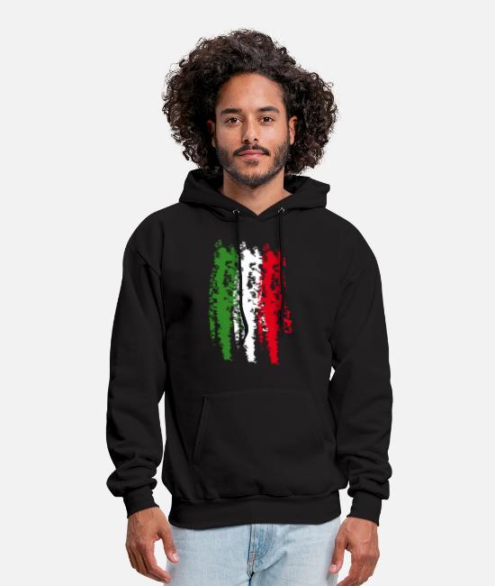 WFIRE Mens Hoodies Italian Flag Sleeveless Hooded Sweatshirts