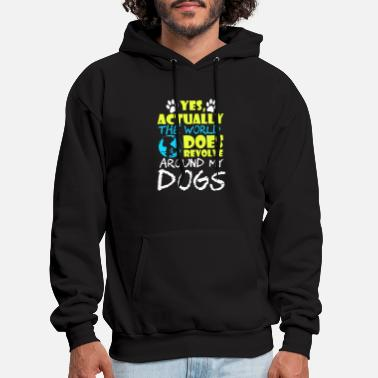The People Who Need Dogs T shirt Design for Dog Lovers - Men's Hoodie