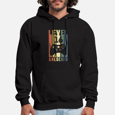 level 16 unlocked picture vintage video gamers bir - Men's Hoodie