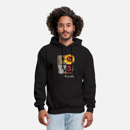 Nana Hoodies & Sweatshirts - love nana life flower art beautiful flower grandma - Men's Hoodie black