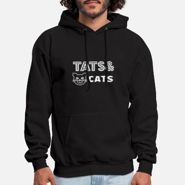 tats and cat animals cutue lovely cat - Men's Hoodie
