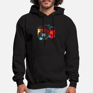 Photography Shirt Watercolor Camera Photographer P - Men's Hoodie