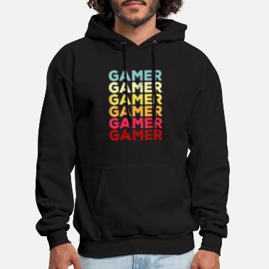 Retro Video Game Shirt GAMER Men Kids Boy Gift Vin - Men's Hoodie