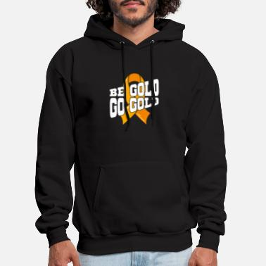 Bold Be Bold Go Gold - Childhood Cancer Gift Awareness - Men's Hoodie
