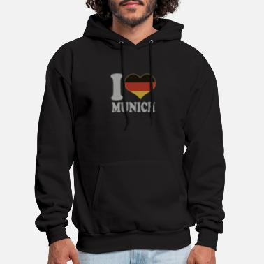 Snowboard I Love Munich Germany German Flag Pride - Men's Hoodie