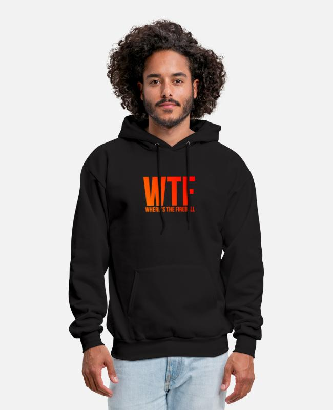 Fireball Hoodies & Sweatshirts - WTF Wheres The Fireball Funny Frat Party - Men's Hoodie black