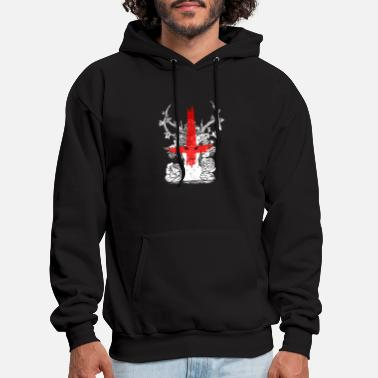 Occult Demons Witch and Satanic Bloody Cross - Men's Hoodie
