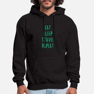 Holidaymaker Eat Sleep Travel Repeat Travel Trip Vacation Flyin - Men's Hoodie