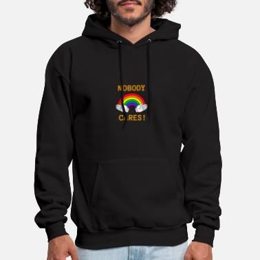Nobody Cares Rainbow Design - Men's Hoodie