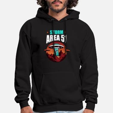 Herren Pullover Strick Sweat Shirt Stoff Area 51 Schal Kapuze Sweatshirt